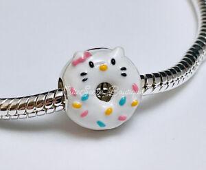Pandora HELLO KITTY Donut Shape Charm NEW