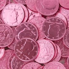 Milk Chocolate Coins 1-lbs - Pink - kosher