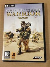 WARRIOR - FULL SPECTRUM - Simulazione di guerra - PC CD ROM 3 Dischi ITALIANO