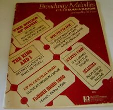 Broadway Melodies Yamaha Electone Music Songbook 11 Organ Music Songs  52 pages