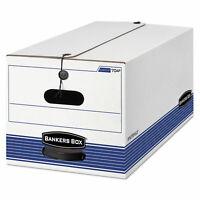 Bankers Box STOR/FILE Storage Box Letter Button Tie White/Blue 12/Carton 00704