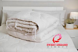 Merino Wool Pure Duvet Quilt Cotton 100% Natural 4.5 tog 10.5 tog 15 tog NEW