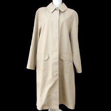 Authentic CHANEL Vintage CC Logos Long Sleeve Trench Coat Beige #38 NR09590