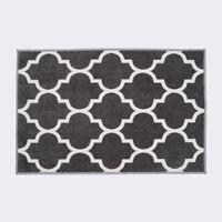 SKID-RESISTANT CARPET Indoor area rug mat MOROCCAN TRELLIS LATTICE Misty Gray