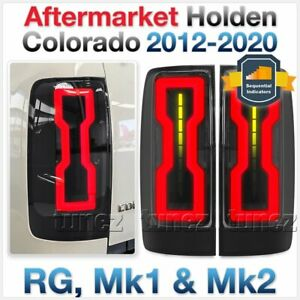 Tunez Smoked LED Tail Rear Lights Lamp For Holden Colorado RG 2012-2020