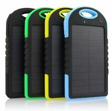 POWER BANK SOLAR 5000 MAH MOSQUETON CARGADOR BATERIA EXTERNA MOVIL acampada send