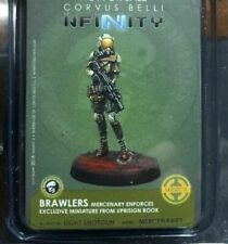 Infinity Merc Brawler Figure Limited Edition NIP Uprising Rulebook Corvus Belli