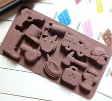 Silicone Chocolate Box Mould Mold pompier pistolet Bottes Fire Engine Hammer Fir...
