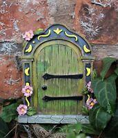 Garden Ornament Fairy Door Hobbit Magical Secret Enchanted Mushroom Cherub