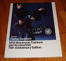 Original 1978 Harley Davidson Motorcycle Fashions & Accessories Sales Brochure