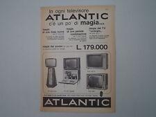 advertising Pubblicità 1963 TELEVISORI ATLANTIC MOD. 547-0/542/CON FRIGOBAR