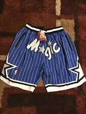 Orlando Magic Men's Basketball Shorts Vintage 1992-1993 Stitched Blue size XXL