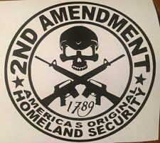 "2nd Amendment Skull Guns HUGE 21"" BIG!!!  Decal For Trucks / Cars  Made in USA"
