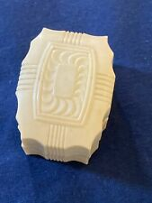 VINTAGE JEWELRY RING PRESENTATION BOX HINGED CELLULOID BLUE VELVET CHICAGO ILL