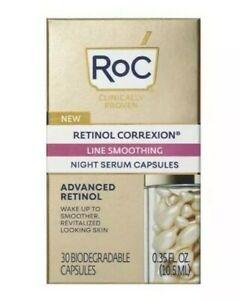 RoC Retinol Correxion Line Smoothing Night Serum Capsules - 30ct New/Sealed!!