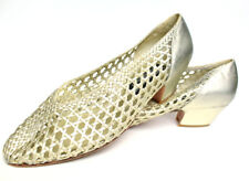 Women's gold size 8 STUART WEITZMAN shoes, stilettos, cuban heels, vintage shoes