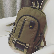 Men Canvas Backpack Rucksack Travel Sport Schoolbag Laptop Hiking Book Bag