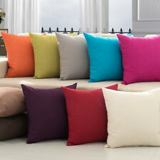 Wholesale lot Canvas Cotton Pillow Case, Solid Color Cushion Covers 5 pcs Lot