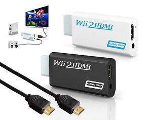 Nintendo Wii auf zu HDMI Adapter Konverter Full HD TV 1080p HDMI Kabel (NEU)