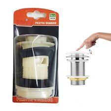 Tappo Piletta Scarico In Plastica Clip Per Lavabo Bidet Vasca Lavandino dfh