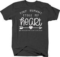 Tiny humans stole my heart funny kindergarten teacher school kids Tshirt for Men