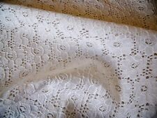 CORDED FLORAL LACE-IVORY-DRESS/BRIDAL FABRIC-FREE P&P