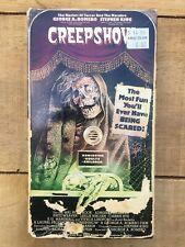 Creepshow VHS Horror Stephen King Hal Holbrook