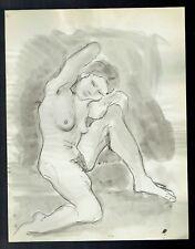 D11 - Dessin d'Etude Encre de Chine - Femme Nue - vers 1950