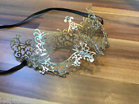Venetian Masquerade Mask Filigree Gold Metal Diamonte Ball Prom Halloween GM4