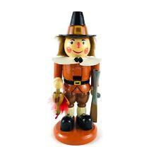 """Kurt S Adler 12"""" Wooden Nutcracker Pilgrim Nanette Hilton 2001"""