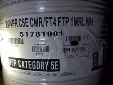 Honeywell Genesis Cable 5178 24/4P F/UTP Shielded CAT5E UV Res Riser Whit /100ft