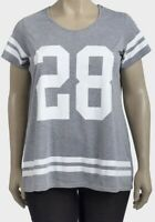 Ladies Grey Logo T-shirt Plus Size 16 18 20 22/24  print Top number 28   PS209