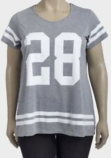 Ladies Grey Logo T-shirt Plus Size 16 18 20 22/24 26/28 30/32 34/36 Top (PS209)