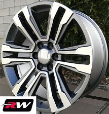"22"" inch 22 x9"" Wheels for Chevy Avalanche Gunmetal Machined GMC Denali Rims"