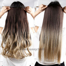 "120-200g 17-30"" Long Clip in Full Head hair Extensions as remy human hair hn76"