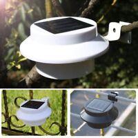 3/9 LED Solar Power Gutter Light Outdoor/Garden/Yard/Wall/Fence/Pathway Lamp