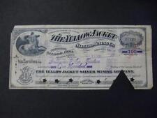 The Yellow Jacket Silver Mining Company ~ 1891 Goldman & Co. Trustees