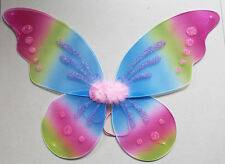 "USA 18""x19"" Kids Adults Rainbow SPARKLE Fairy WINGS Tinkerbell ANGEL Costume YM"