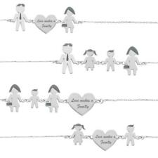 Bracciale LOVE MAKES A FAMILY Argento 925 Lui Lei Bimbo Bimba Made in Italy