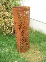 Gartensäule ,Edelrost,Gartendeko,Garten LichtSäule Rost Metall H80cm