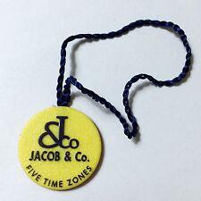 Jacob & Co 5 cinco zonas horarias hangtag Etiqueta Etichetta cachet wachssiegel