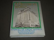 1976 A DIFFERENT WORLD GREAT HOTELS BY CHRISTOPHER MATTHEW BOOK - I 856