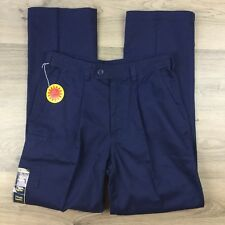 Bisley Men's Navy Drill Work Wear Pants Size 77 Regular NWT All Cotton (BN14)