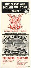 1966 Advert Broadside CLEVELAND INDIANS Welcome Frat. Order EAGLES Baseball