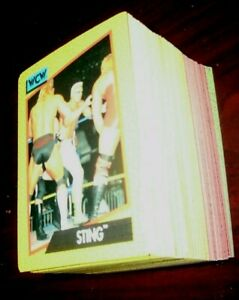 1991 IMPEL WCW COMPLETE SET OF 162 WRESTLING CARDS IN EXCELLENT TO NR/MT SHAPE