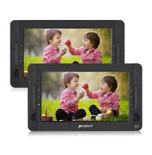 "Portable DVD Player 10.1"" Car Dual Screen Headrest Players, Entertainment System"