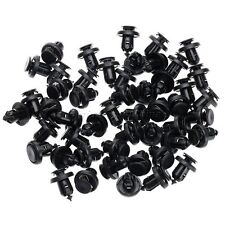 50Pcs Black Front Bumper Clips Metal Insert Push Type Retainer For Honda
