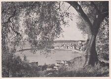 D3584 France - Mentone - Veduta generale - Stampa d'epoca - 1940 vintage print