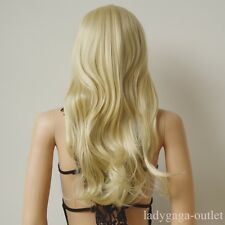 100% Thick Women Natural Hair Wig Long Straight Curly Cosplay Synthetic Full Wig