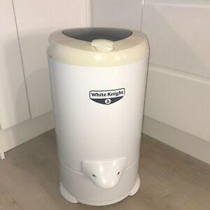 White Knight 28009W 2800rpm, 4.1kg Gravity Drain Spin Dryer - White